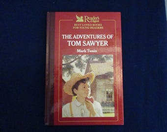 Vintage Reader's Digest - The Adventures of Tom Sawyer by Mark Twain - Young Readers Book