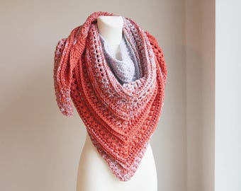 Crochet Shawl / Crochet Shawl Wrap / Crochet Scarf / Christmas Gift / Oversize scarf / Wrap / Knitted Scarf / Chunky Scarf / gift for her