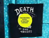 DEATH to BIKE THIEVES patch aka u lock justice patch