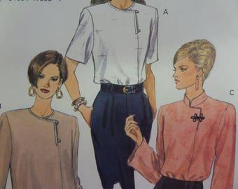 PULLOVER TUNIC Pattern • Vogue 9040 • Miss 18-22 • Oriental Flair Top • Mandarin Collar • Sewing Pattern • Modern Patterns • WhiletheCatNaps