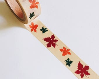 FALL LEAVES Crafting Tape Washi Roll Maple Leaf Thanksgiving holiday Cards Autumn craft card planner crafts planners Fall sticker stickers
