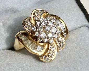 Cluster Diamond 14k Ring
