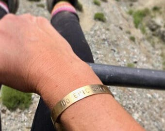 DO EPIC SHIT brass cuff bracelet