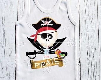 Milk Pirate, raglan, baseball style, toddler tee, boys tee, girls tee, unisex tee shirt - Arrgh, milk pirate!