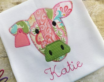 Cow Shirt for Girls Personalized