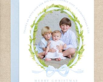Watercolor Boxwood Christmas Card