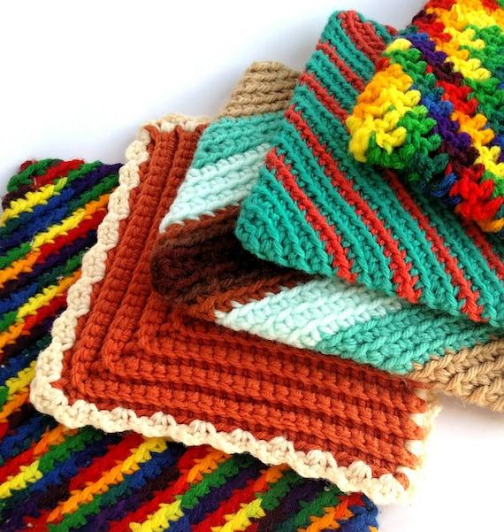 Set of 5 Vintage Crocheted Potholders