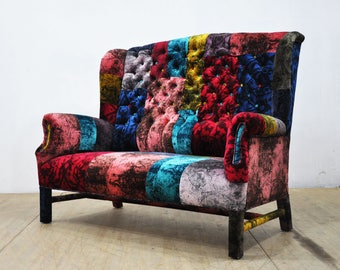 Classy - wing patchwork sofa