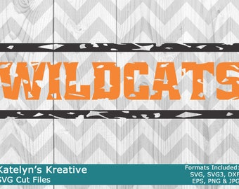 Wildcats Distressed SVG Files