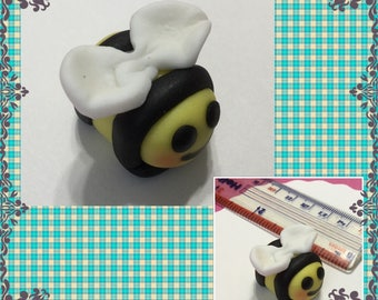 Edible Fondant BEES  for your Cake, Cupcakes, cookies or Cake Pops - You choose the colors