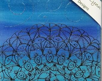 Mandala Ocean Acrylic Painting. Blue,black