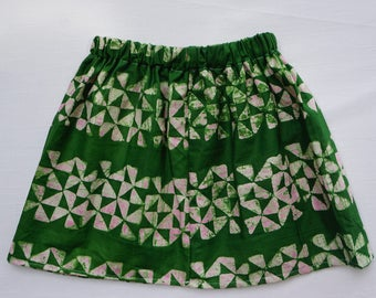 Girls skirt, Toddler Skirt, Batik Skirt
