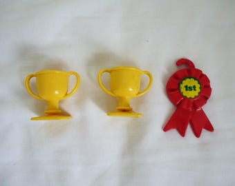 Vintage G1 my little pony rosette and trophies