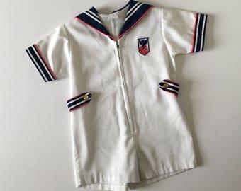 1980's Nautical Sailor Romper (3t)