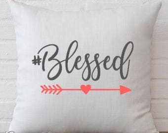 Blessed Arrow Heart Pillow Cover Decorative Throw Pillow Case Cover