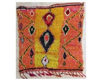 "160X160 cm  5'2"" x 5'2""   TC27741 boucherouite , boucharouette,  moroccan rugs , berber rugs, morocco carpets"
