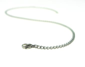 """18"""" Stainless Steel Chain Stainless Steel Lobster Claw Clasp"""