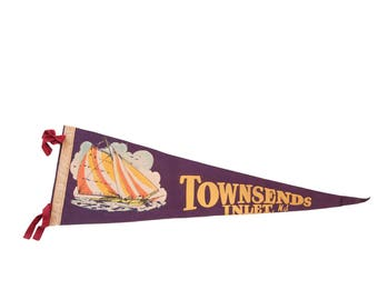 Townsend Inlet NJ Felt Flag