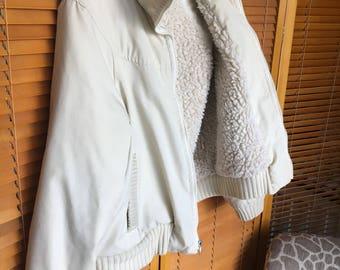 70's-80's White Bomber Ski Jacket