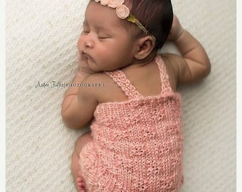 romper photo outfit - Baby girl romper photo outfit  - summer newborn baby girl clothes - Peach baby girl romper outfit - Girl Take home