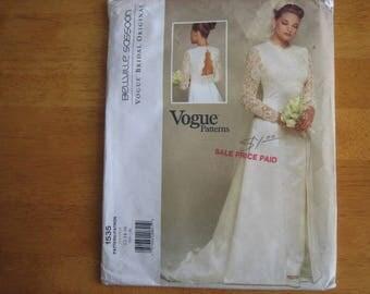 Vogue Pattern 1535 BELLVILLE SASSOON Misses' Dress       1995       Uncut