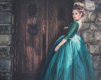 Girls Emerald green gown
