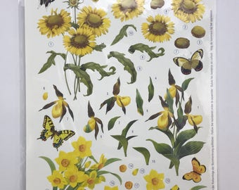 European Decoupage Die Cuts - Butterflies and Flowers 9024