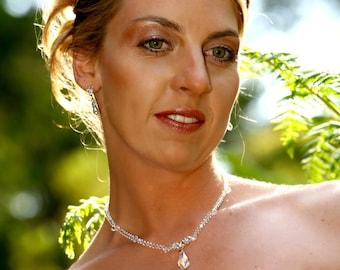 Bridal Tiara Circlet of Crystal Glass Beads, Wirework Style