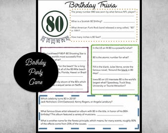 Adult Birthday Party Game