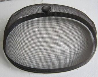"Vintage ""shoofly"" fly screen oval"
