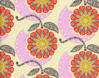 15 x 20 LAMINATED cotton fabric (similar to oilcloth) remnant - Cell Structure Americana - Field Study - BPA free approved for children