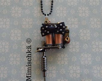necklace tattoo machine gun tattoo