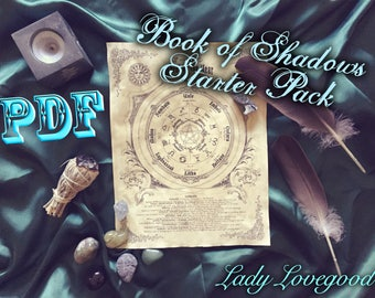Book of Shadows Basics Package - 10 Pages - Printable PDF