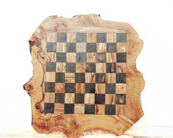 Lovely Chess Set, Large Rustic Wooden Chess Board Set, Monogrammed Chess Set Board  Game,