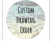 "Custom Drawing - 8x8"""