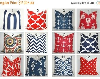 FALL is COMING SALE 4th of July Red White & Blue Pillow Covers Patriotic Celebration Pillow Covers All Sizes