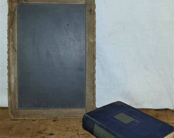 Antique Primitive Slate Board Chalkboard 1900's Child's School Slate Blackboard Farmhouse Chic