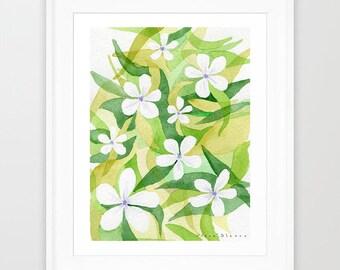 Printable art. Poster download. Floral printable. Digital painting. Flower printable. Watercolor download. Poster printable.