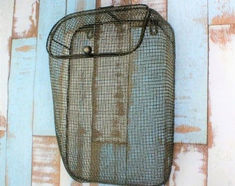 Entryway Organizer - Mail Holder - Rustic Mail Storage - Rustic Wire Wall Basket - Bag Caddy - Fixer Upper Style - Farmhouse Chic Style