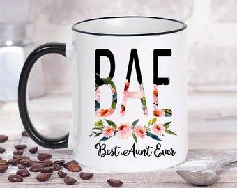 BAE Mug, Best Aunt Ever Mug, Aunt Mug, Aunt Gift, Aunt Coffee Mug, Auntie Mug, Mugs for Aunts, Aunt Gifts, New Aunt Mug, Funny Aunt