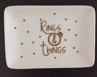 Ring Dish, Rings & Things