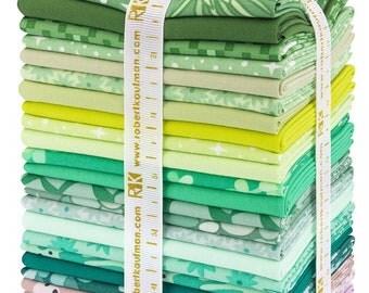 Terrarium cool cotton fat quarters by Elizabeth Hartman for Robert Kaufman