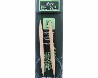 One Set of Clover Takumi Bamboo 29in Circular Knitting Needle Size 13 #3016/29-13