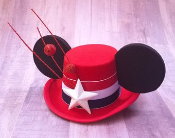 Stars and Stripes Mouse Ears Mini Top Hat 4th of July FascinEar Fascinator