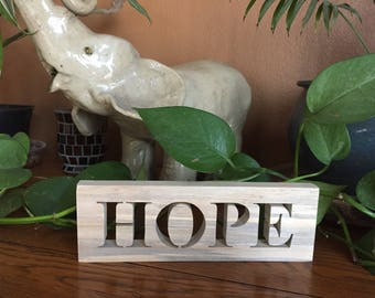 Hope Sign - Rustic - Rustic Hope Wood Words Sign - Rustic Home Decor - Farmhouse Signs- Rustic Home - Wall Hanging - Rustic Signs