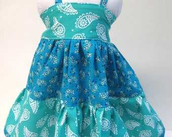 Blue Twirly Dress for your 18 Inch Doll