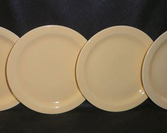 Vernon Kilns Plates Yellow Early California Four Bread and Butter Plates