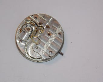 Antique 36mm Etched Pocket Watch Movement
