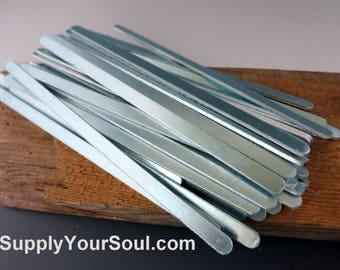 "Aluminum Bracelet Blanks, 1/4""x6"", Metal Cuff Bracelet, 14G Aluminum Stamping Blanks, Cuff Blanks, Choose 6 to 144"