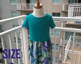 70% Off Teal Leafy Knit Dress Size 3